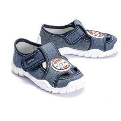 VIGGAMI ADAŚ SPORT jeans, kapcie dziecięce, rozmiary: 26-30 - Granatowy