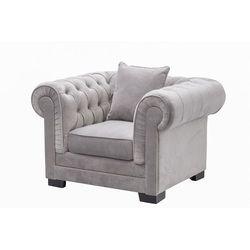 Dekoria Fotel Chesterfield Classic Velvet Light Grey 118x96x77cm, 118 × 96 × 77 cm