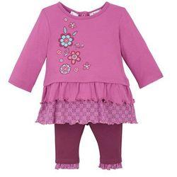 Shirt niemowlęcy + legginsy (2 części), bawełna organiczna bonprix jeżynowo-jagodowy