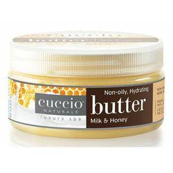 Cuccio MILK & HONEY BUTTER Nawilżające masło do dłoni, stóp i ciała (mleko i miód)