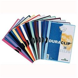 Skoroszyt z klipsem Durable Duraclip Original 30 kartek czerwony 220003