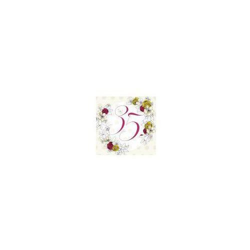 Pozostałe artykuły szkolne, Karnet Swarovski kwadrat CL1435_PO Urodziny 35