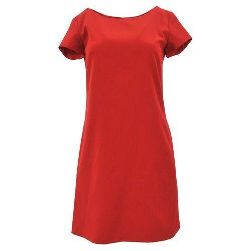 Suknie i sukienki, Klasyczna sukienka z kieszeniami i guzikami (czerwona)