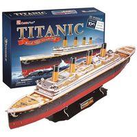 Puzzle, Puzzle 3D Duży zestaw. Statek Titanic