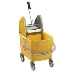 Wiadro do mopa jezdne 25L | żółte