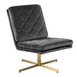 Obrotowy fotel wypoczynkowy Ricco - ciemnoszary
