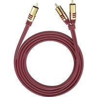 Kable video, Kabel audio, Cinch Oehlbach 20563, [2x Złącze męskie cinch - 1x Złącze męskie cinch], 3 m, czerwony