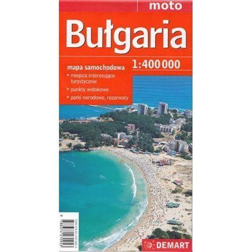 Mapy i atlasy turystyczne, Bułgaria - mapa samochodowa 1:400 000 (opr. broszurowa)