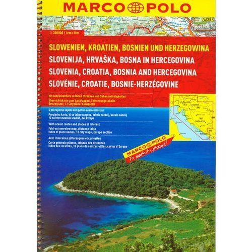 Mapy i atlasy turystyczne, MP Słowenia, Chorwacja, Bośnia i Hercegowina atlas drogowy 1:300 000 (opr. broszurowa)