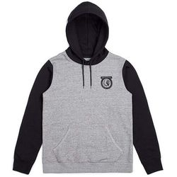 bluza BRIXTON - Native Hood Fleece Heather Grey/Black (HTGBK) rozmiar: XL
