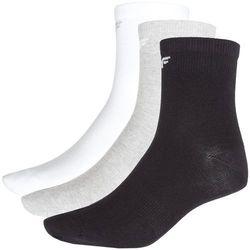 Skarpetki treningowe dla małych chłopców (3 pary) JSOM300Z - biały+szary+czarny