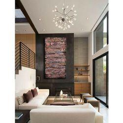 metaliczne fale - duży obraz abstrakcyjny do salonu rabat 10%
