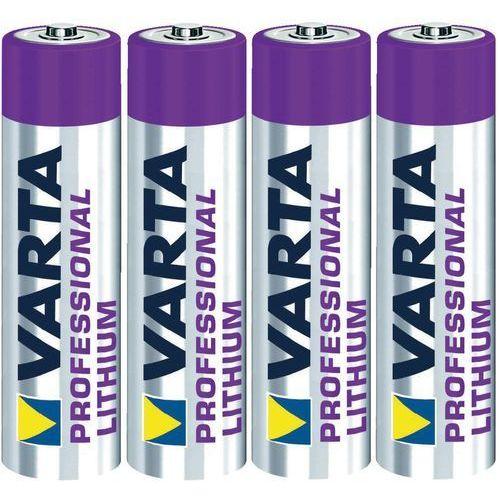 Baterie, 4 x bateria litowa Varta Lithium L92 R03 AAA