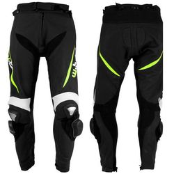 Męskie motocyklowe spodnie skórzane W-TEC Vector - Kolor Czarno-czerwony, Rozmiar XL