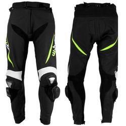Męskie motocyklowe spodnie skórzane W-TEC Vector - Kolor Czarno-niebieski, Rozmiar 4XL