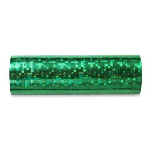 Pozostałe wyposażenie domu, Serpentyna holograficzna - zielona - 18 szt.