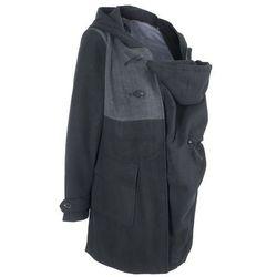 Płaszcz budrysówka ciążowy z wstawką niemowlęcą na nosidełko bonprix czarny