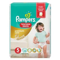 Pampers, Premium Care Pants. Pieluchomajtki, rozmiar 5 Junior, 20 sztuk - Pampers