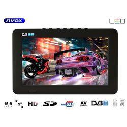 """Telewizor LED 9"""" USB SD AV-in PVR DVB-T/T2 MPEG-4/2 12V 230V"""
