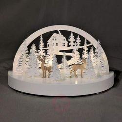 Nastrojowy świecznik łukowy LED Zimowy las