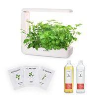 Nasiona, Klarstein GrowIt Cuisine Zestaw startowy II 10 roślin oświetlenie LED nasiona roślin europejskich pożywka płynna