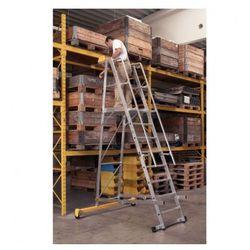Składana aluminiowa drabina platformowa - 10 stopni, 3,1 m