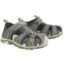 WOJTYŁKO 5S3009 szary/zielony, sandały dziecięce, rozmiary: 33-36 - Szary