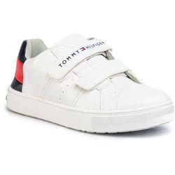 Sneakersy TOMMY HILFIGER - Low Cut Velcro Sneaker T3B4-30719-0193Y003 S White/Blue/Red