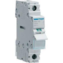 Hager Modułowy rozłącznik izolacyjny 1P 100A 230V SBN190