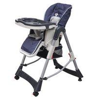 Krzesełka do karmienia, vidaXL Krzesełko do karmienia dla dzieci z regulacją wysokości, niebieskie Darmowa wysyłka i zwroty