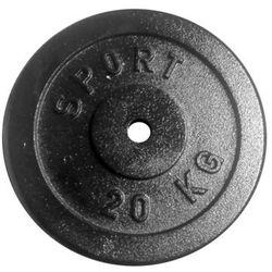 Obciążenie żeliwne 20 kg czarne fi 31 mm (okrągłe) Kelton