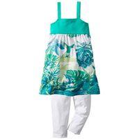 Sukienki dziecięce, Sukienka + legginsy 3/4 (2 części) bonprix zielono-turkusowy