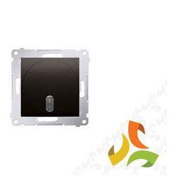 Dzwonek elektroniczny 8–12 V, brąz mat DDT1.01/46 SIMON 54 PREMIUM