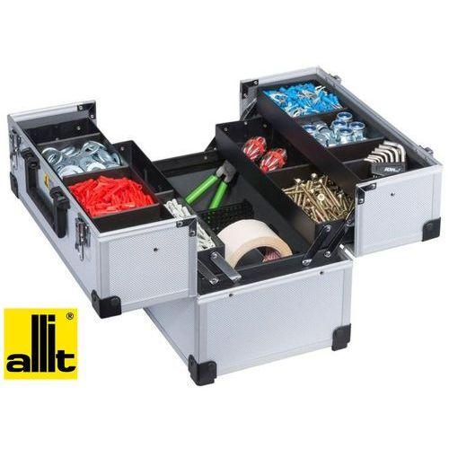 5aa4746978372 ALLIT Walizka narzędziowa AluPlus, 360x230x275mm (4 półki) (425300)