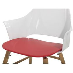 Krzesło do jadalni czerwono-białe BOSTON