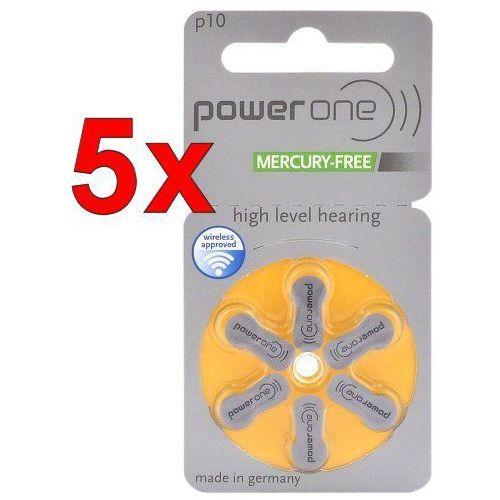 Baterie, 30 x baterie do aparatów słuchowych Power One Varta 10 MF