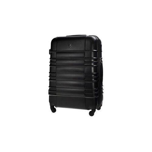Torby i walizki, Mała walizka kabinowa abs 55x37x24cm stl838 czarna
