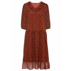 Sukienka wieczorowa z siatkową wstawką i cekinami bonprix czarny