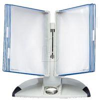 Gabloty reklamowe, System biurkowy Tarifold A4 z 10 niebieskimi panelami 734301