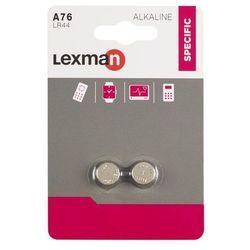 Bateria ALKALICZNA LR44/A76 2 SZT. LEXMAN