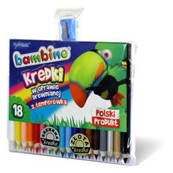 Kredki 18 kolorów + temperówka Bambino