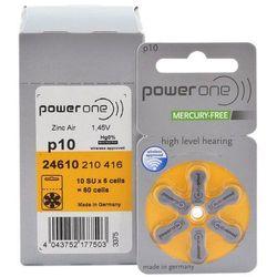 120 x baterie do aparatów słuchowych Power One Varta 10 MF