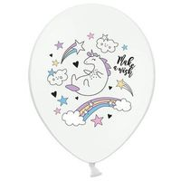 Balony, Balony pastelowe Jednorożec - 30 cm - 5 szt.