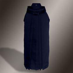 heavy rayon-polyester hakama (granatowy, szt.jedwab-poliester)