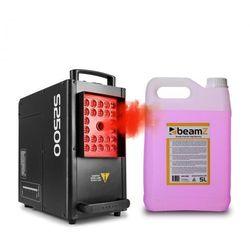 Beamz S2500 Wytwornica mgły z 5 l fluidu do wytwarzania mgły 2500 W 24x dioda LED 4 w 1 10 W DMX