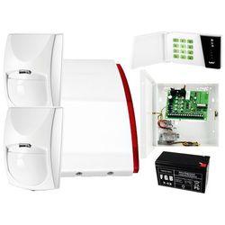 System alarmowy do domu jednorodzinnego: Płyta główna CA-4 VP + Manipulator CA-4 VKLED + 2x Czujnik ruchu + Akcesoria