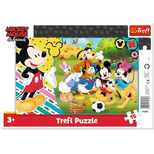 Puzzle, Puzzle ramkowe 15 Mickey na wsi TREFL