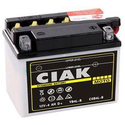 Akumulator motocyklowy CIAK YB4L-B 12V 4Ah 50A P+