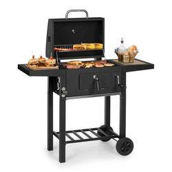 Klarstein Meat Machine, grill na węgiel drzewny, 45 x 32,5 cm, termometr, kółka, czarny