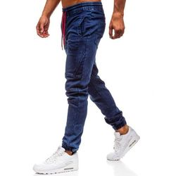 Spodnie jeansowe joggery męskie granatowe Denley Y270